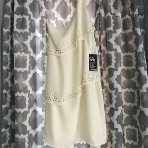 Cream 3 layer dress from Express